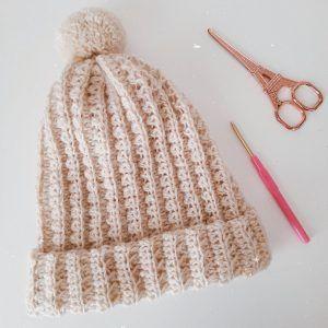 Cómo hacer un gorro en punto elastico a crochet