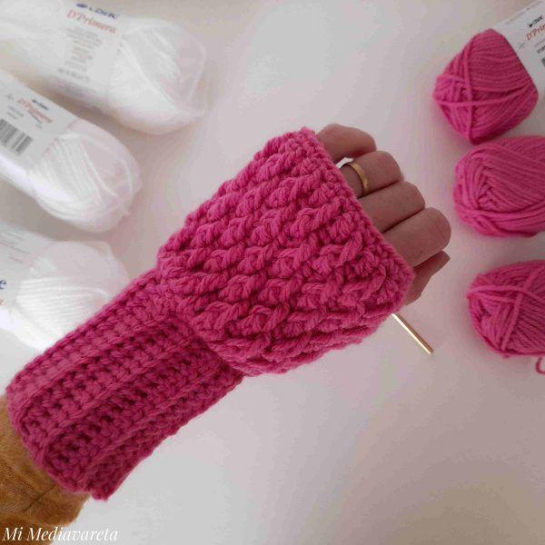 Mitones alpina a crochet paso a paso