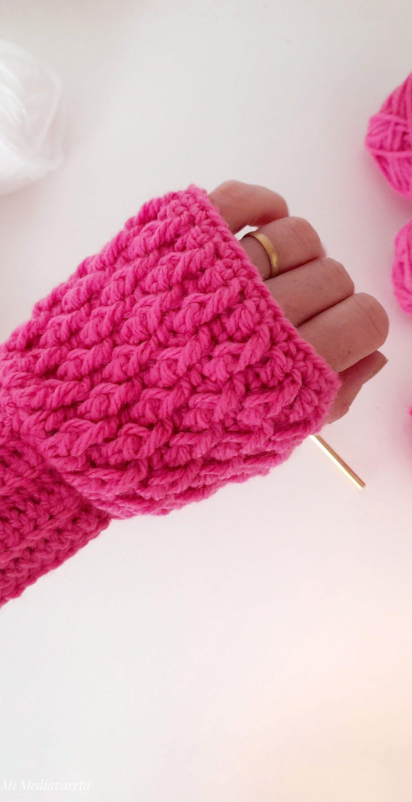 mitones a crochet patrones
