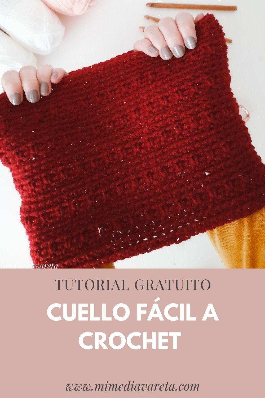 Regalo crochet para hombre: Tutorial para tejer cuello FÁCIL paso a paso