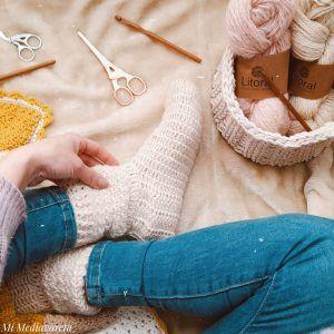 medias litoral. son medias tejidas a crochet