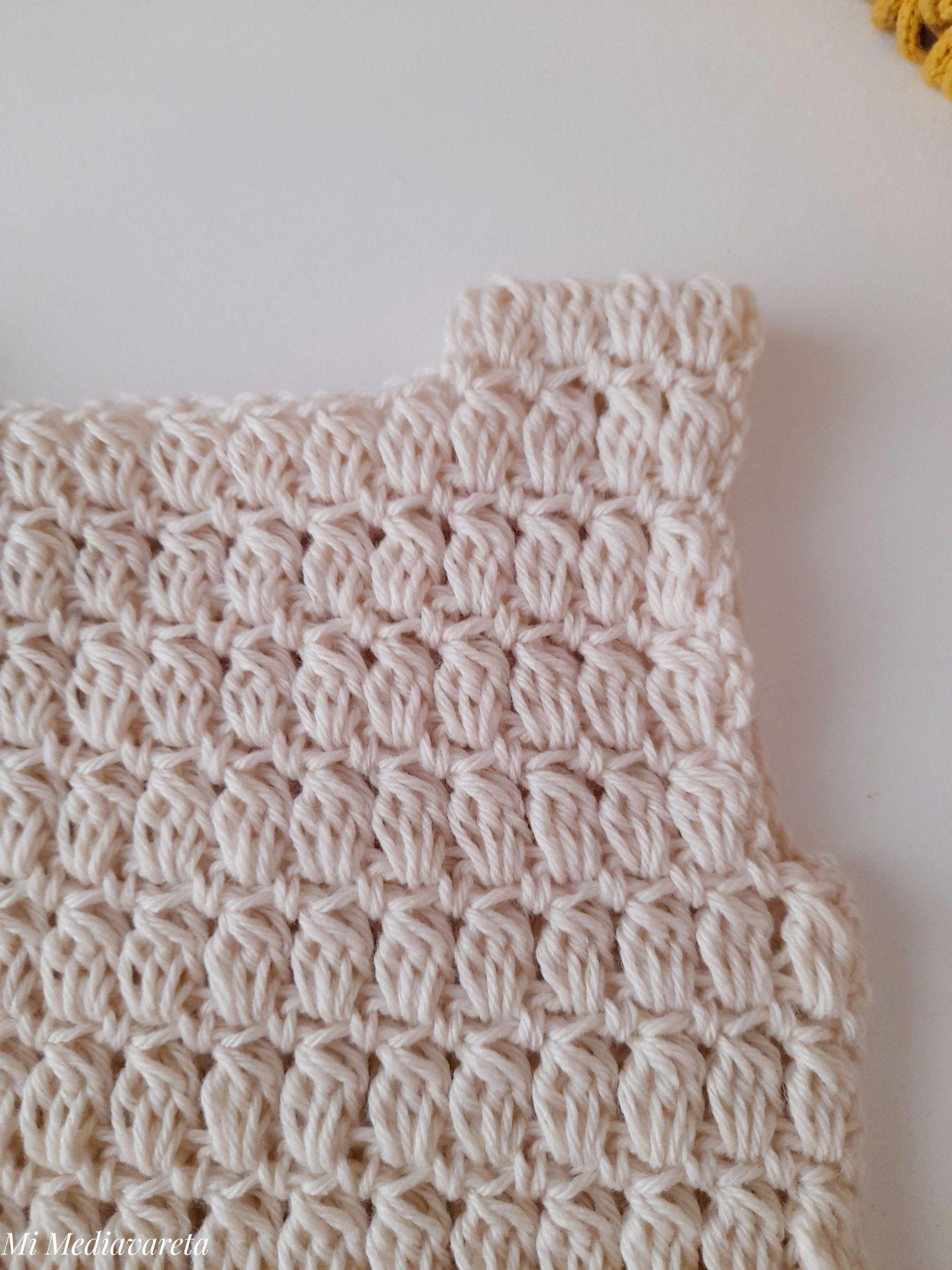 Chaleco unisex para niño/ niña a crochet paso a paso