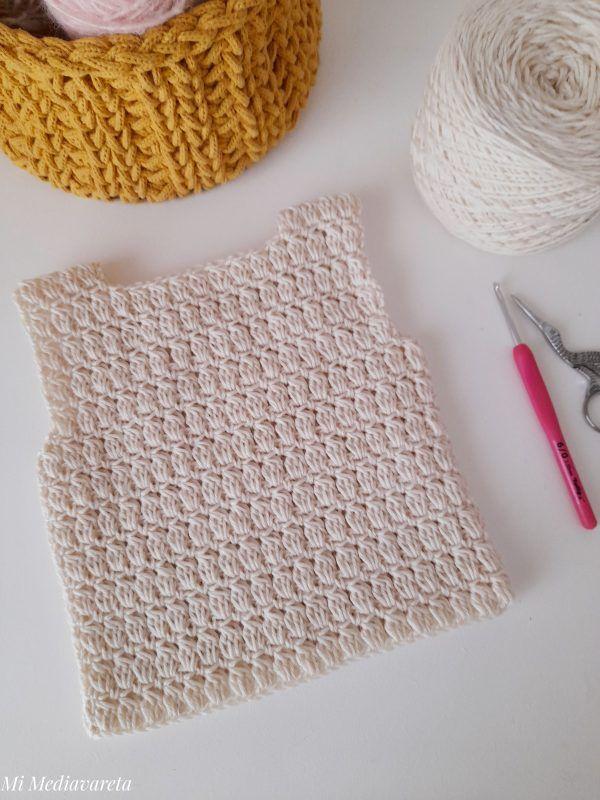 Cómo tejer un chaleco a crochet niño/niña unisex paso a paso en español