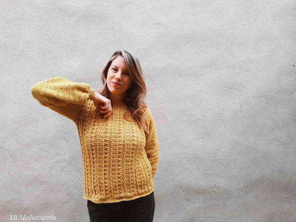 Este es un Sweater tejido a crochet