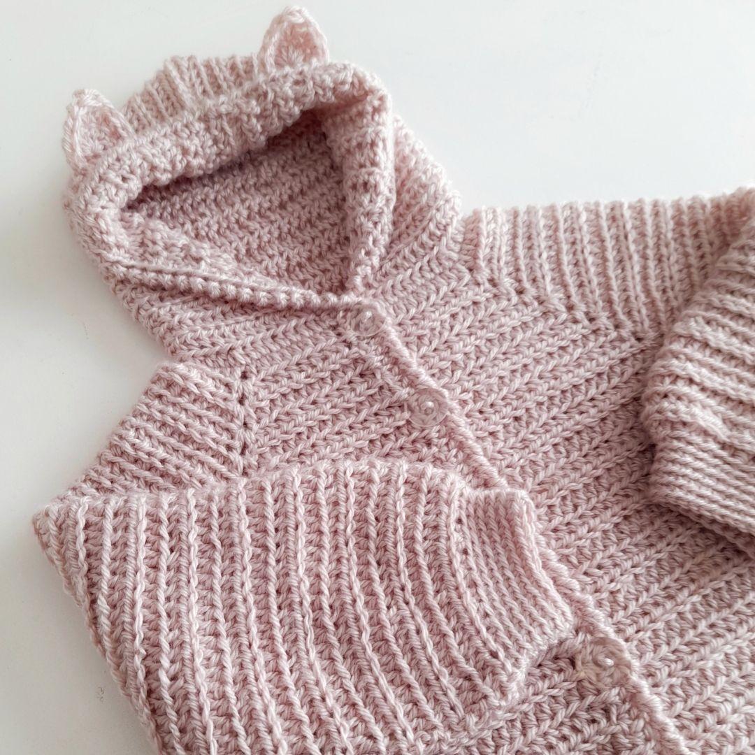 Campera Top Down a crochet paso a paso