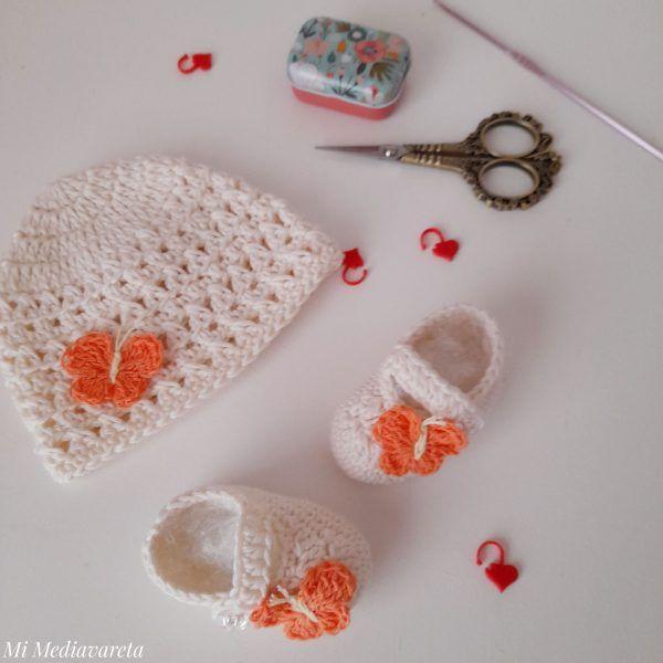 Aprende a tejer un conjunto para bebé a crochet