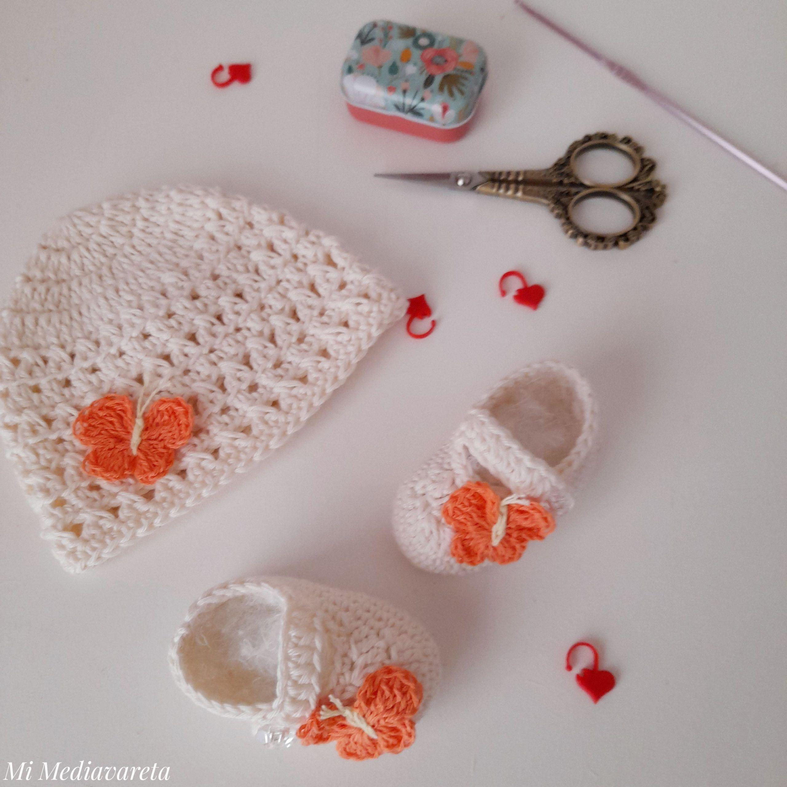 Zapatos bebés a crochet